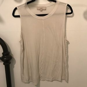 LOFT Sleeveless White Top